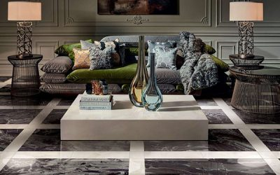 Batimat 2017 — New Collection Roberto Cavalli Home Luxury Tiles — Rock Simphony